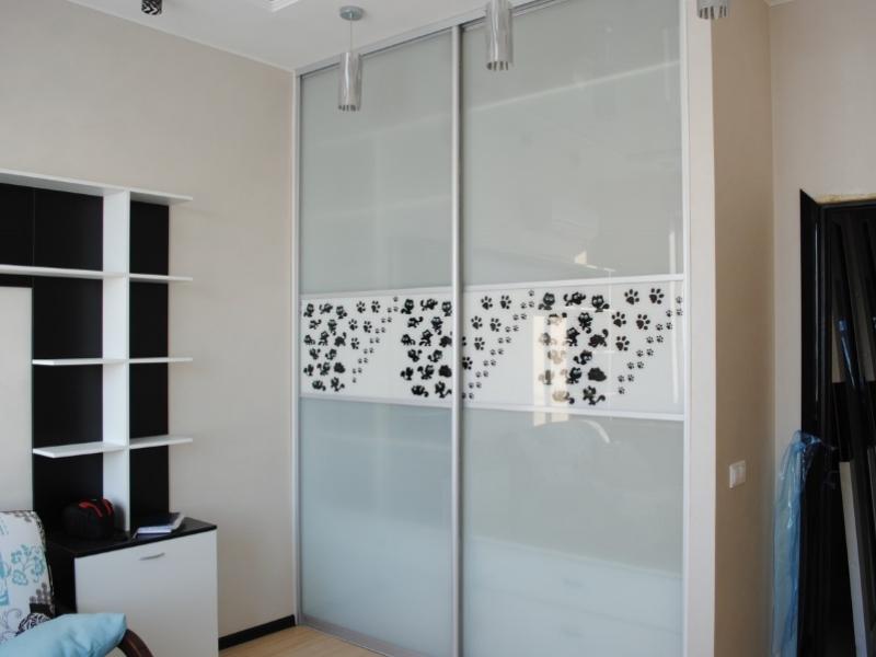 Встроенный шкаф-купе в гостиной